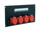 EUROLITE PDM 6U-4CEE Distribuitor cu 4 prize CEE, 32A, 5 pini, pentru rack
