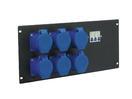 EUROLITE PDM 5U-6CEE Distribuitor cu 6 prize CEE, 32A, 3 pini, pentru rack