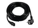 OMNITRONIC Cablu de alimentare cu mufă IEC, 3x0,75mm, 10m