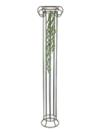 EUROPALMS Ghirlandă de Iarba Ranke, verde inchis, 105cm