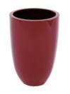 EUROPALMS LEICHTSIN CUP-49 Ghiveci decorativ roșu lucios