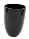 EUROPALMS LEICHTSIN CUP-69 Ghiveci decorativ negru lucios