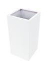 EUROPALMS  LEICHTSIN BOX-100 Ghiveci decorativ alb lucios