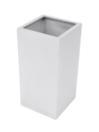 EUROPALMS  LEICHTSIN BOX-80 Ghiveci decorativ argintiu lucios