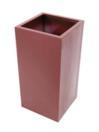 EUROPALMS LEICHTSIN BOX-100 Ghiveci decorativ rosu lucios