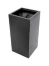 EUROPALMS LEICHTSIN BOX-100 Ghiveci decorativ negru lucios