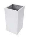 EUROPALMS  LEICHTSIN BOX-100 Ghiveci decorativ argintiu lucios