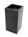 EUROPALMS  LEICHTSIN BOX-80 Ghiveci decorativ negru lucios