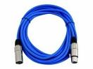 OMNITRONIC MC-50b Cablu cu XLR, mamă la tată, 5m, albastru, simetric