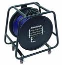 OMNITRONIC Rolă cu cablu Multicore cu distribuție, 24IN/4OUT, XLR, 30m