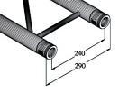BILOCK BQ2-5000 2-way cross beam