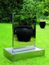 EUROPALMS Perete de apă din inox, mărime XL